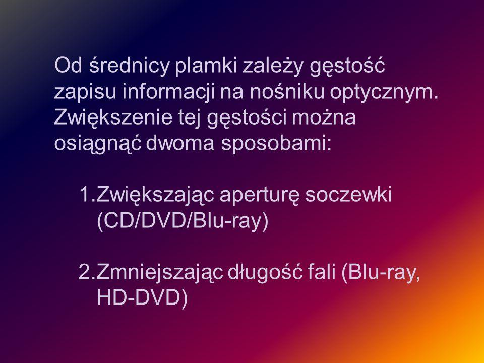 DVD-5 zapis jednostronny, jednowarstwowy pojemność 4,7 GB analogia do CD Link do obrazka