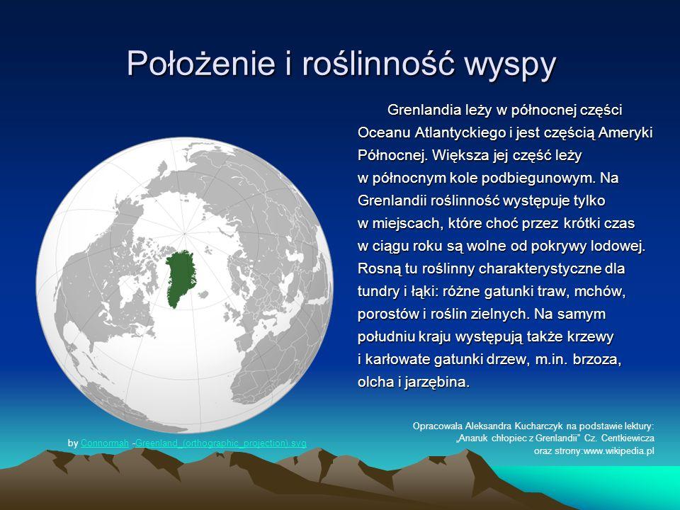 Położenie i roślinność wyspy Grenlandia leży w północnej części Oceanu Atlantyckiego i jest częścią Ameryki Północnej. Większa jej część leży w północ
