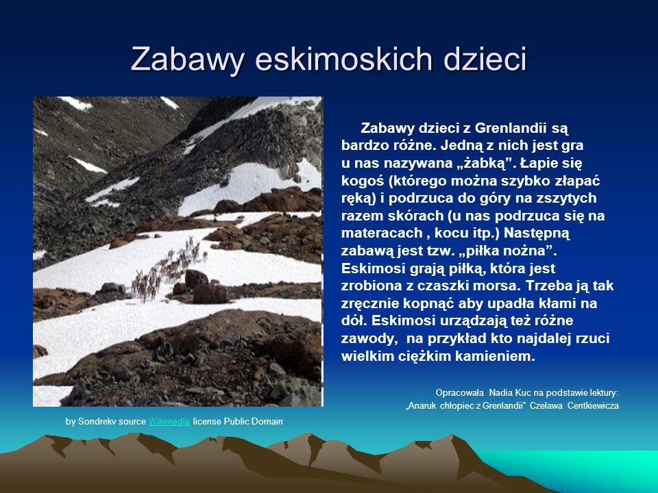 Kłótnie Eskimosów W Grenlandii kłótnie wyglądają inaczej, niż w innych krajach.