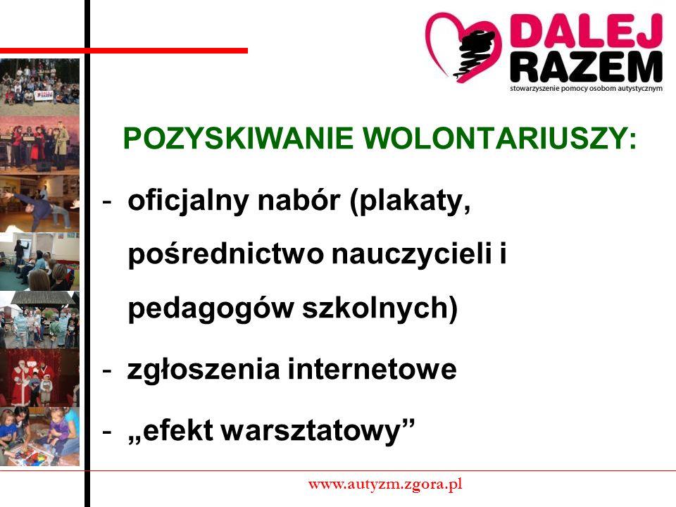 FORMY WOLONTARIATU www.autyzm.zgora.pl