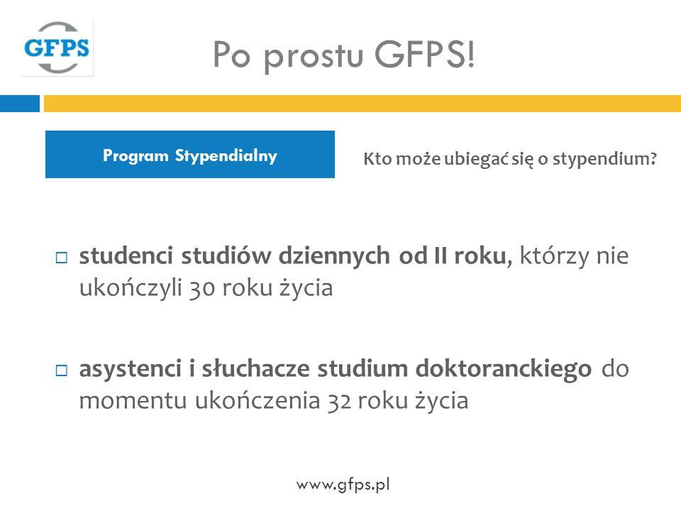 Program Stypendialny Po prostu GFPS.
