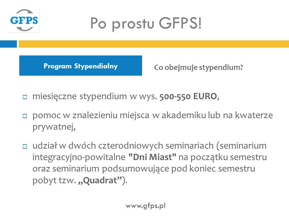 Program Stypendialny Po prostu GFPS.miesięczne stypendium w wys.