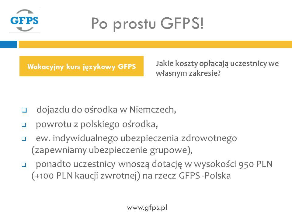 Po prostu GFPS.dojazdu do ośrodka w Niemczech, powrotu z polskiego ośrodka, ew.