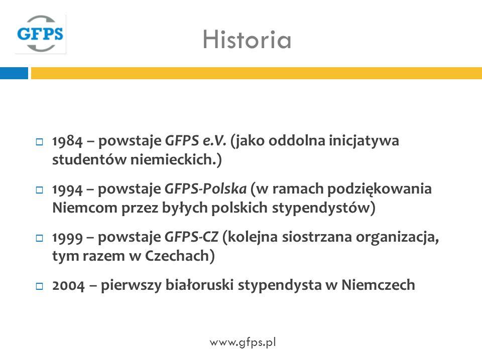 Historia 1984 – powstaje GFPS e.V.
