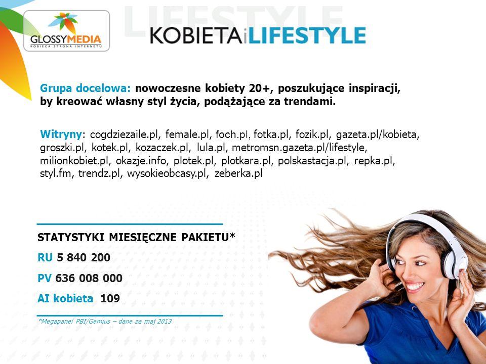 STATYSTYKI MIESIĘCZNE PAKIETU*: RU 3 878 000 PV 34 400 000 AI kobieta 111 Grupa docelowa: matki oraz kobiety, które dopiero nimi będą.