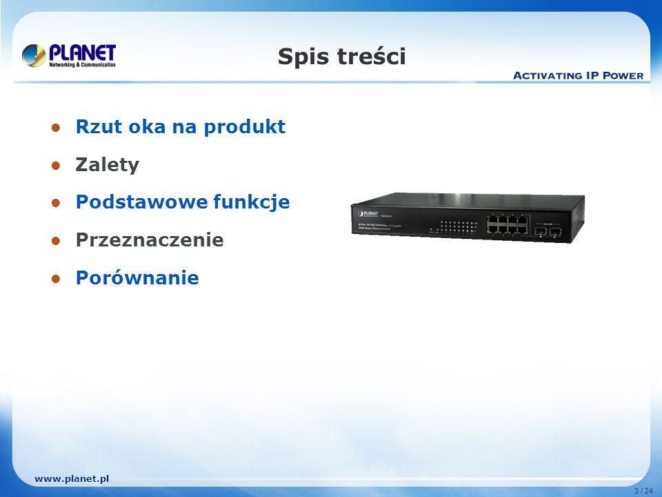 www.planet.pl 3 / 24 Spis treści Rzut oka na produkt Zalety Podstawowe funkcje Przeznaczenie Porównanie
