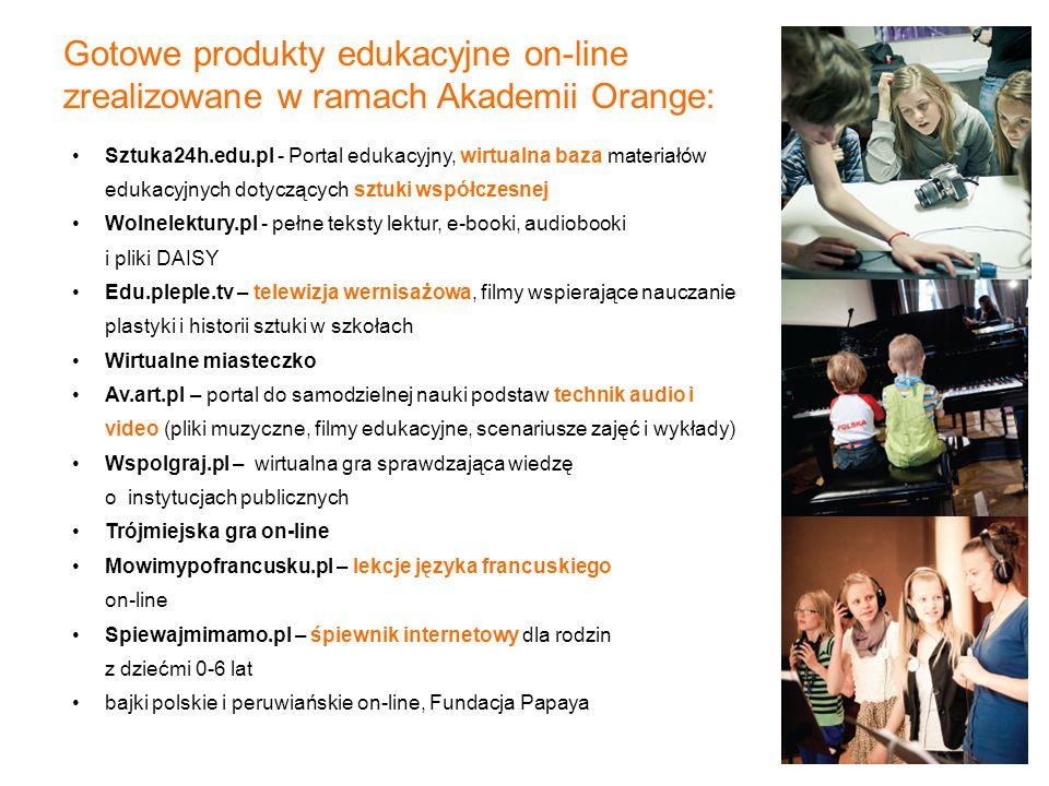 Sztuka24h.edu.pl - Portal edukacyjny, wirtualna baza materiałów edukacyjnych dotyczących sztuki współczesnej Wolnelektury.pl - pełne teksty lektur, e-