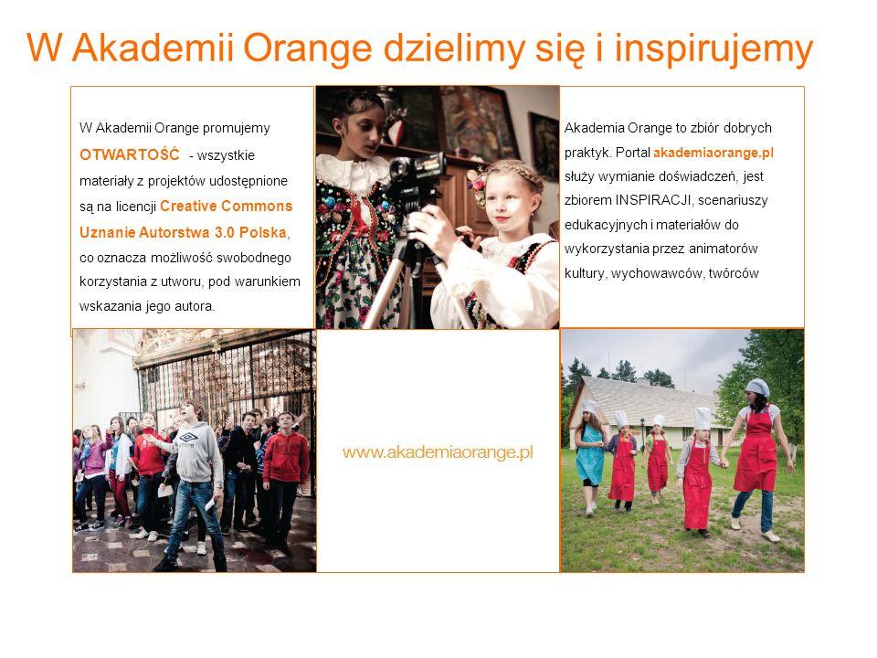 Akademia Orange to zbiór dobrych praktyk. Portal akademiaorange.pl służy wymianie doświadczeń, jest zbiorem INSPIRACJI, scenariuszy edukacyjnych i mat