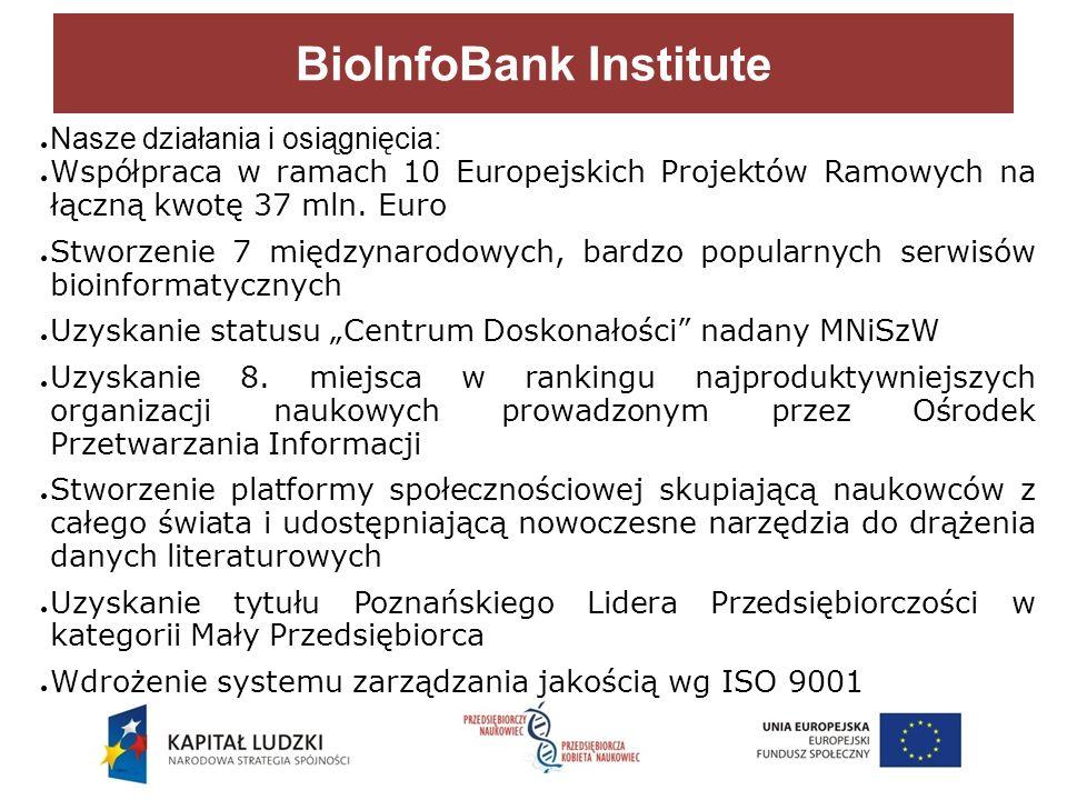 Nasze działania i osiągnięcia: Współpraca w ramach 10 Europejskich Projektów Ramowych na łączną kwotę 37 mln.