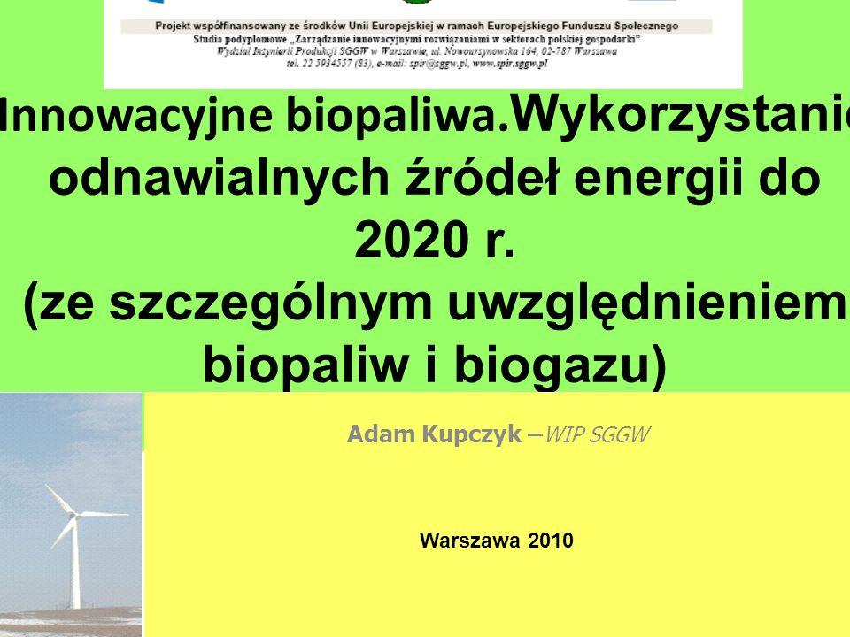 EC BREC Institute for Renewble Energy Ltd.Innowacyjne biopaliwa.
