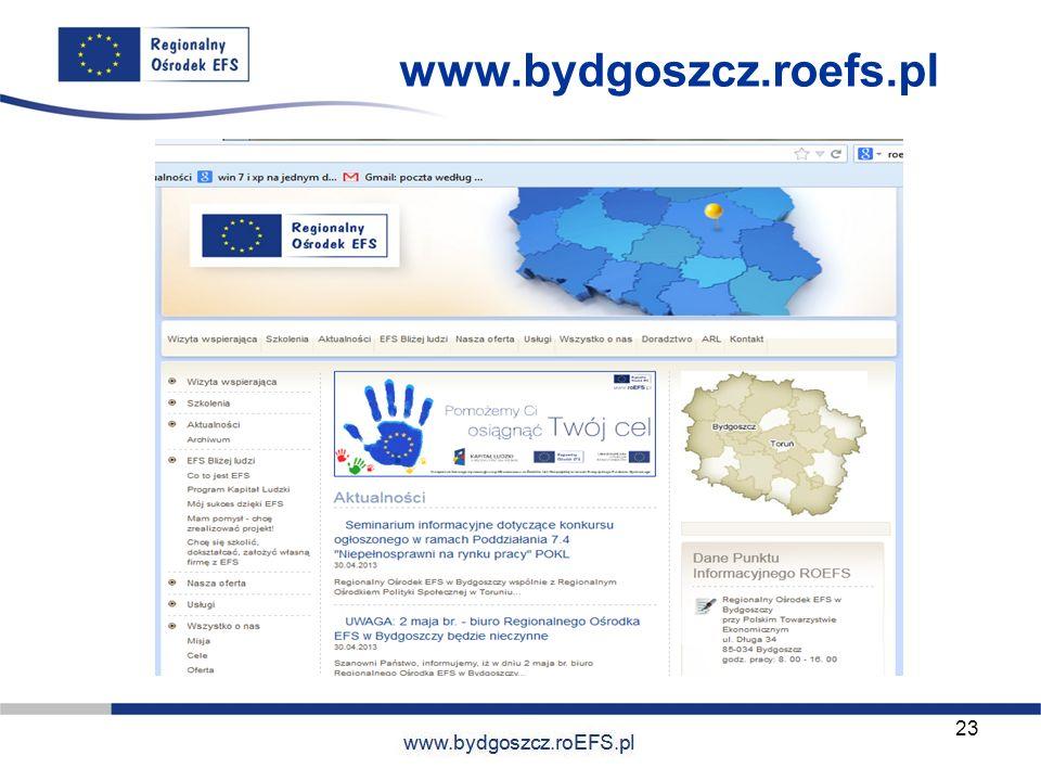 www.miasto.roEFS.pl www.bydgoszcz.roefs.pl 23