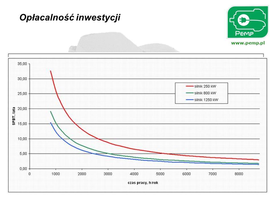 www.pemp.pl Przykład w oparciu o porównanie kosztów ponoszonych w cyklu życia silnika energooszczędnego i standardowego.