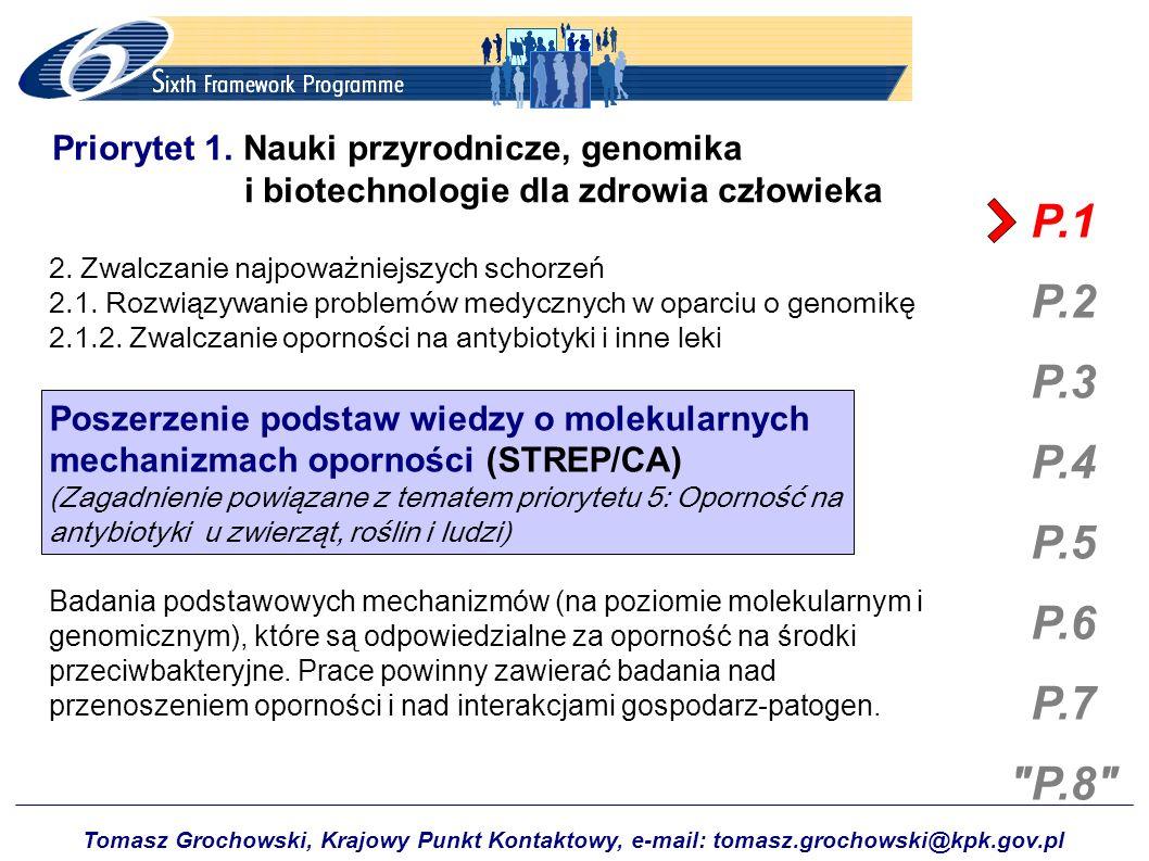 Tomasz Grochowski, Krajowy Punkt Kontaktowy, e-mail: tomasz.grochowski@kpk.gov.pl P.1 P.2 P.3 P.4 P.5 P.6 P.7 P.8 Priorytet 3.