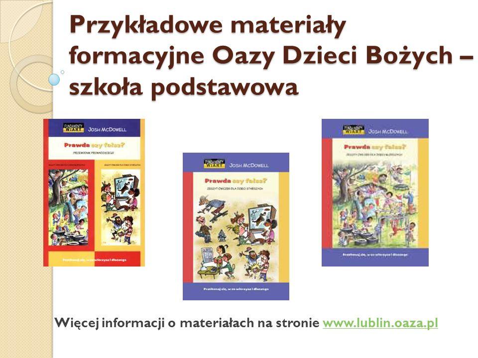Ewangeliczne Rewizje Życia – Oaza Nowej Drogi – po VI kl.