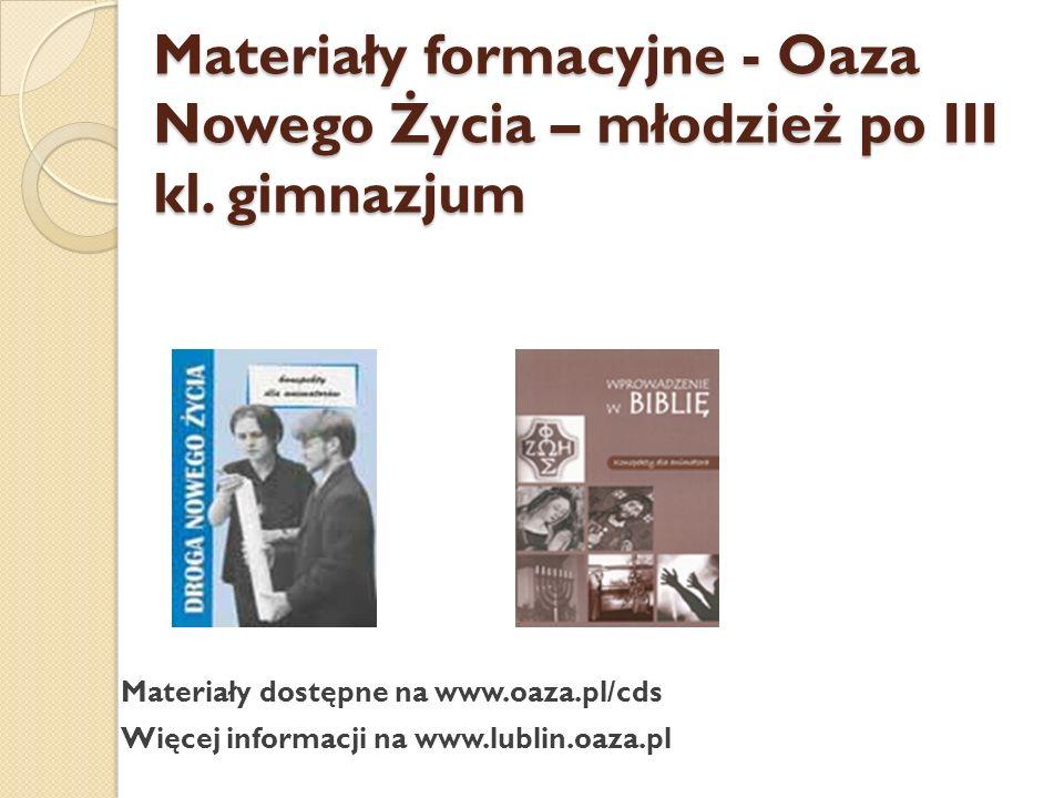 Materiały dostępne w Centrum Archidiecezjalnym w Lublinie, ul.