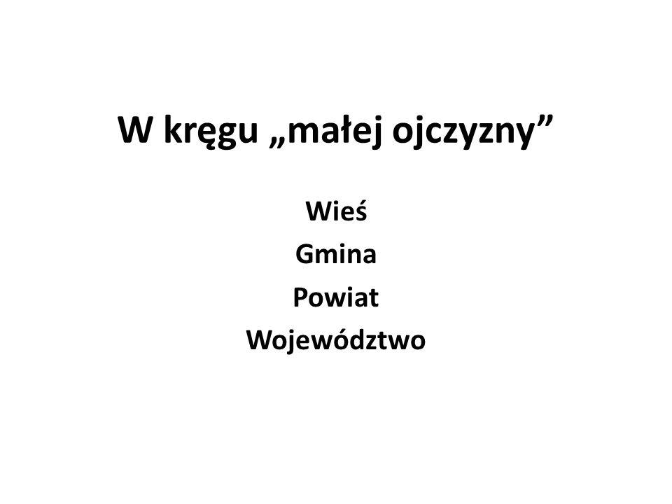 W kręgu małej ojczyzny Wieś Gmina Powiat Województwo