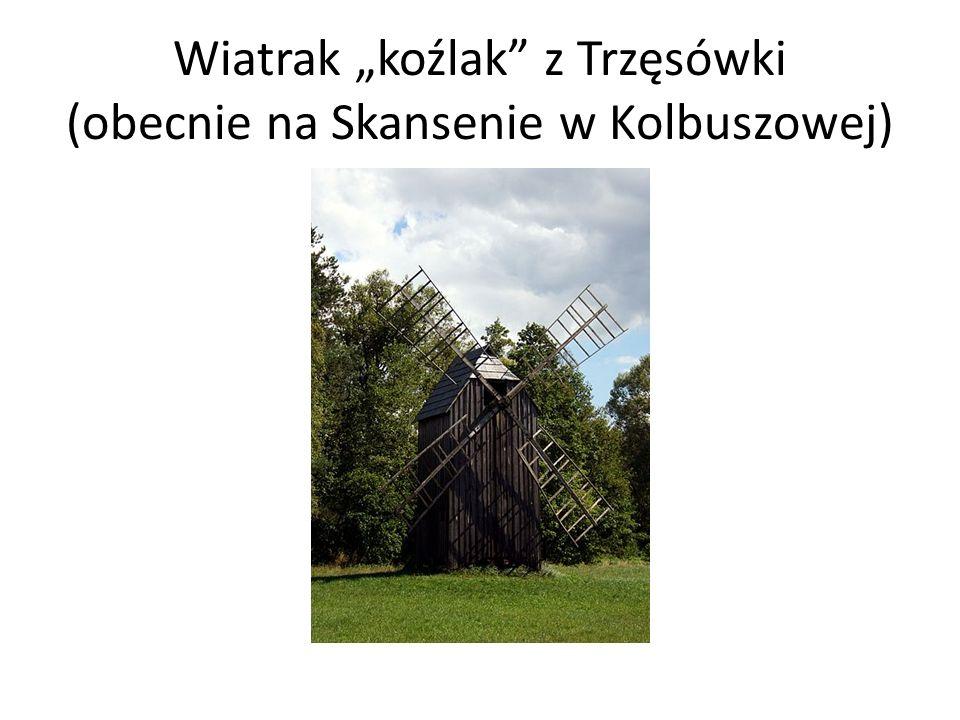 Wiatrak koźlak z Trzęsówki (obecnie na Skansenie w Kolbuszowej)
