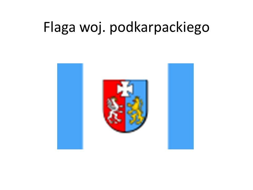 Flaga woj. podkarpackiego