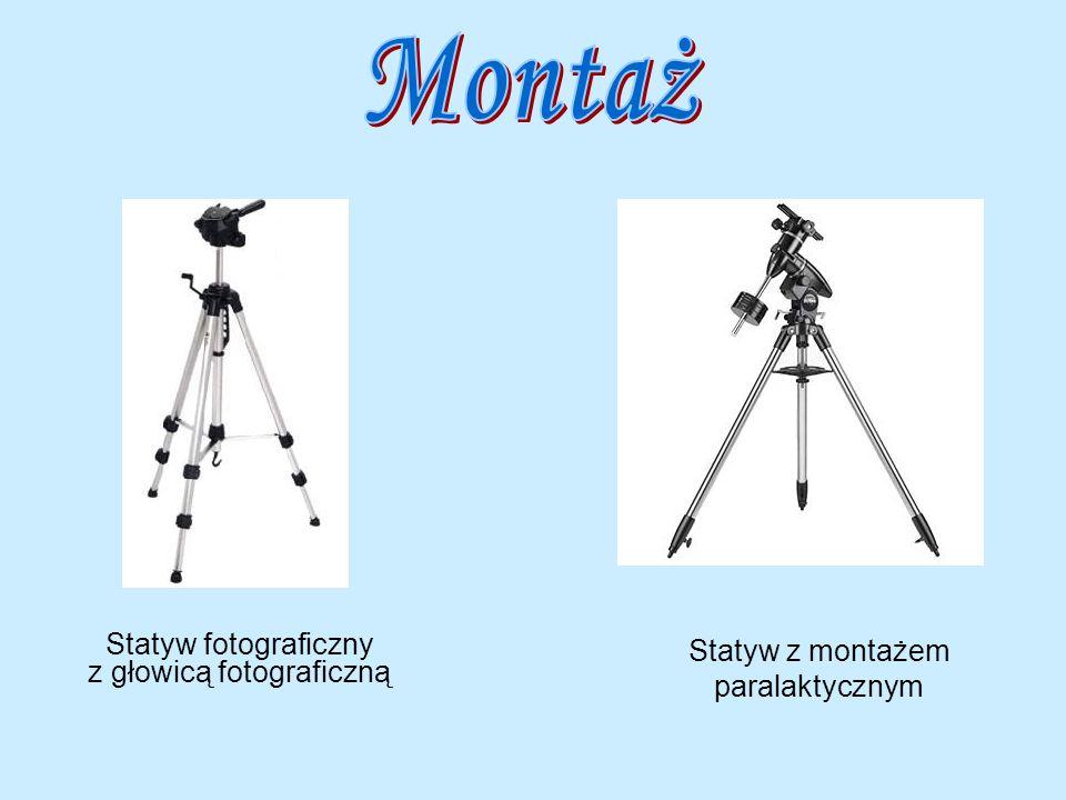 Statyw fotograficzny z głowicą fotograficzną Statyw z montażem paralaktycznym