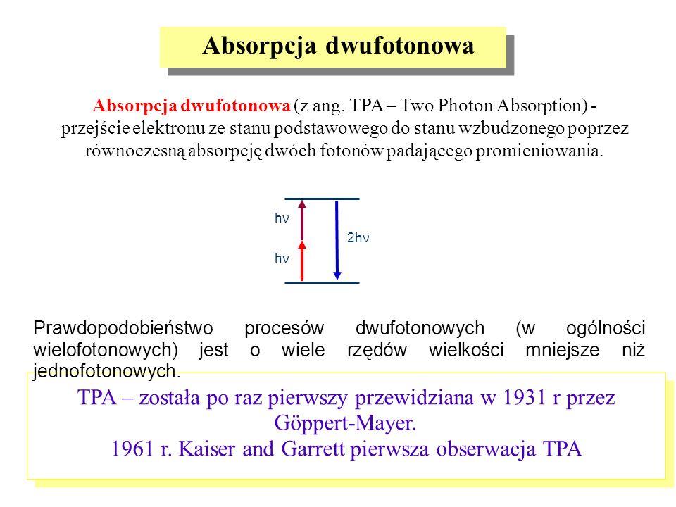 Absorpcja dwufotonowa (z ang. TPA – Two Photon Absorption) - przejście elektronu ze stanu podstawowego do stanu wzbudzonego poprzez równoczesną absorp