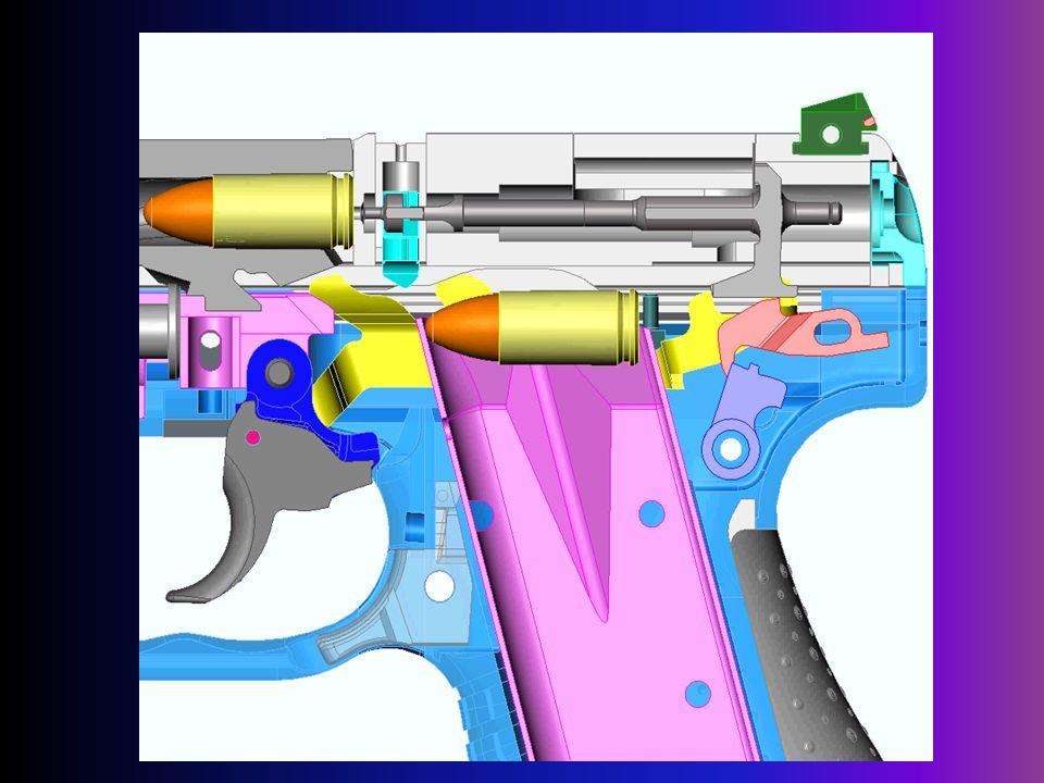 tylna blokada iglicy - zezwala na ruch do przodu /samowyzębienie się zaczepu iglicy z szyną spustową/ tylko przy pełnym ściągnięciu spustu