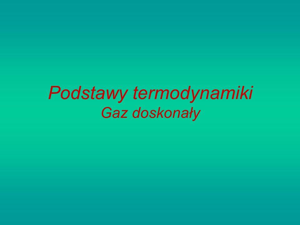 Podstawy termodynamiki Gaz doskonały