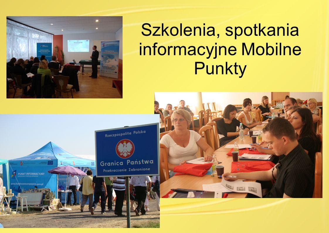 Szkolenia, spotkania informacyjne Mobilne Punkty