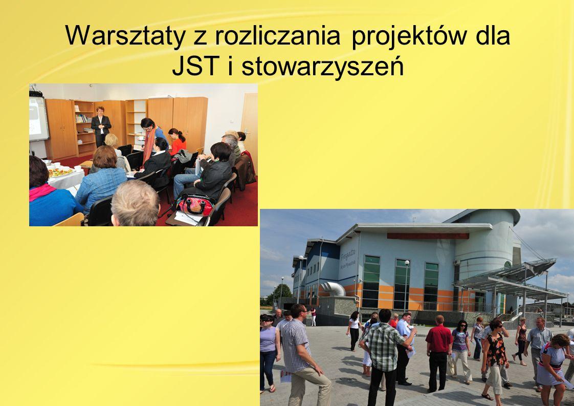 Warsztaty z rozliczania projektów dla JST i stowarzyszeń