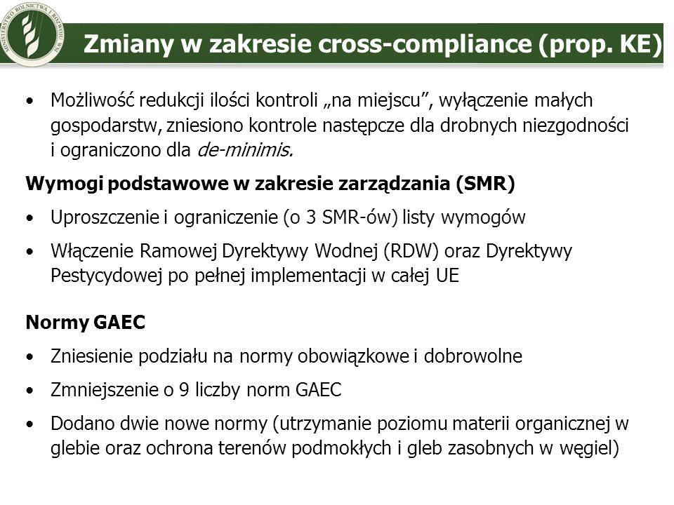 Stanowisko Polski - płatności bezpośrednie (1) Wyrównanie stawek płatności do średniej UE - odejście od alokacji opartej o historyczne poziomy produkcji, powierzchnia UR - właściwe kryterium alokacji środków Utrzymanie SAPS – lepiej odpowiada celom reformy, system prosty, również zgodny z WTO Zazielenienie WPR poprzez wzmocnienie: zasad DKR i wzmocnienie działań RŚK.