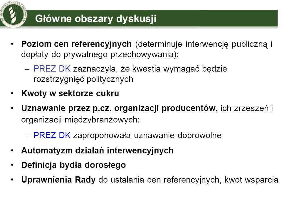 Główne obszary dyskusji Uznawanie przez p.cz.