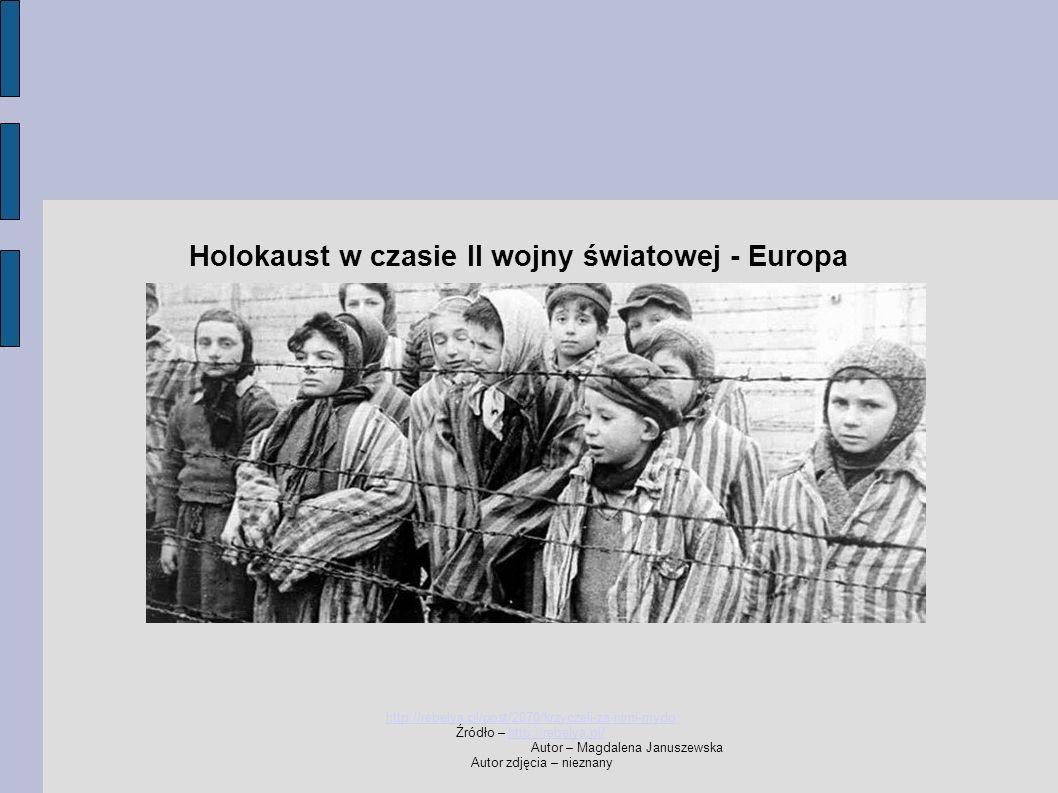 Holokaust w czasie II wojny światowej - Europa http://rebelya.pl/post/2070/krzyczeli-za-nimi-mydo Źródło – http://rebelya.pl/http://rebelya.pl/ Autor