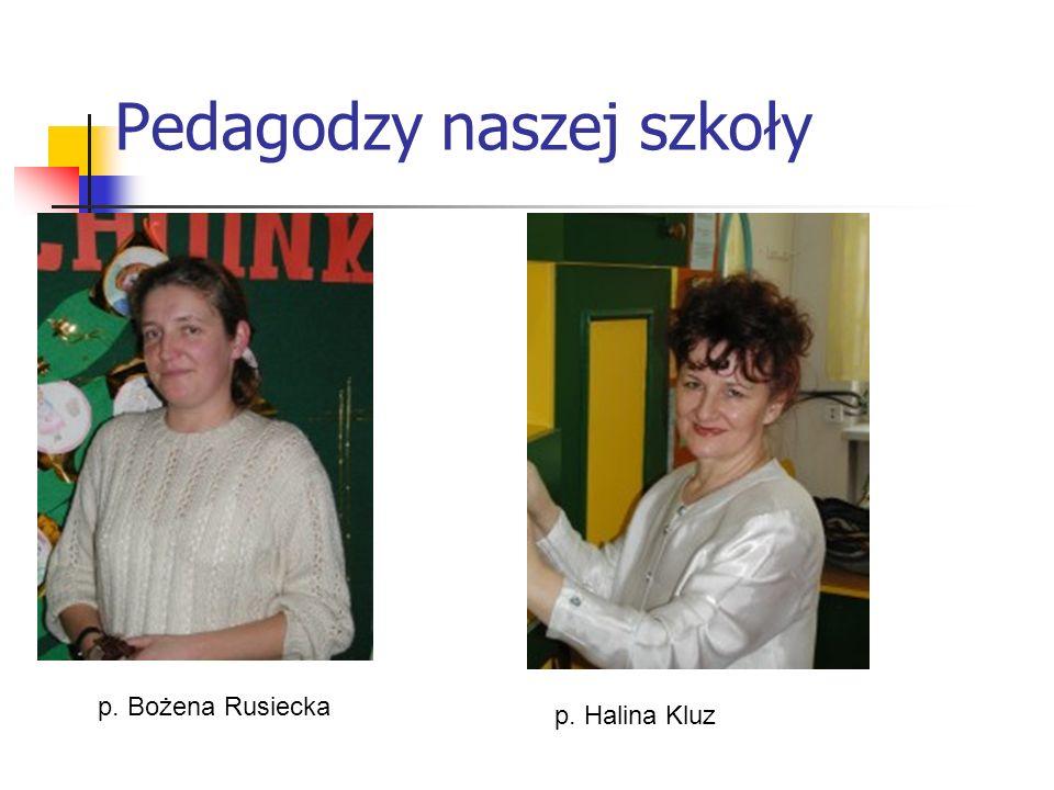 Pedagodzy naszej szkoły p. Bożena Rusiecka p. Halina Kluz