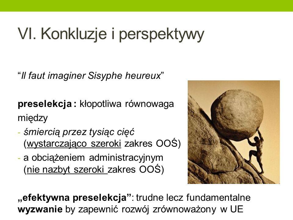 VI. Konkluzje i perspektywy Il faut imaginer Sisyphe heureux preselekcja : kłopotliwa równowaga między - śmiercią przez tysiąc cięć (wystarczająco sze