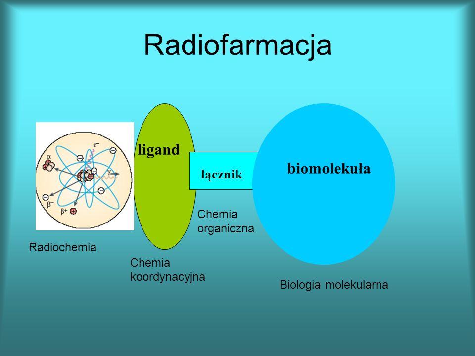 biomolekuła łącznik ligand Radiochemia Chemia koordynacyjna Chemia organiczna Biologia molekularna Radiofarmacja
