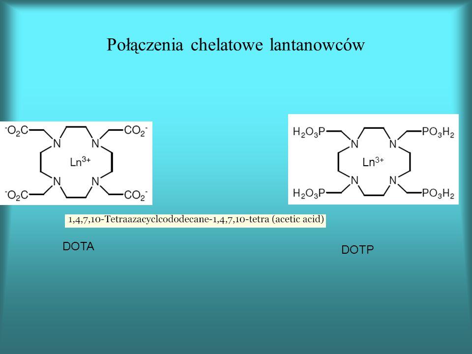 Połączenia chelatowe lantanowców DOTA DOTP Ln 3+