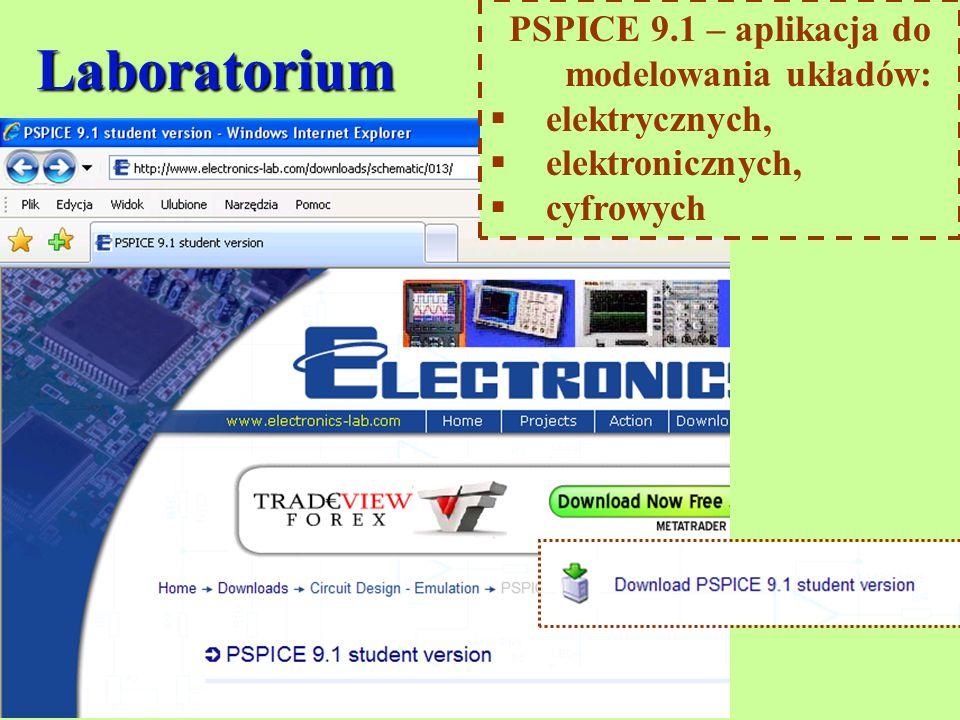 Laboratorium PSPICE 9.1 – aplikacja do modelowania układów: elektrycznych, elektronicznych, cyfrowych