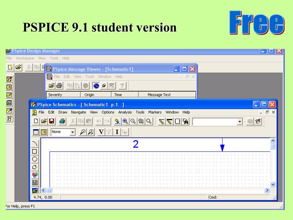 PSPICE 9.1 student version