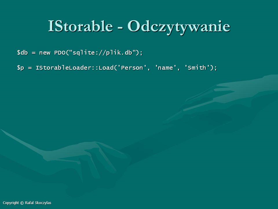 IStorable - Odczytywanie $db = new PDO(