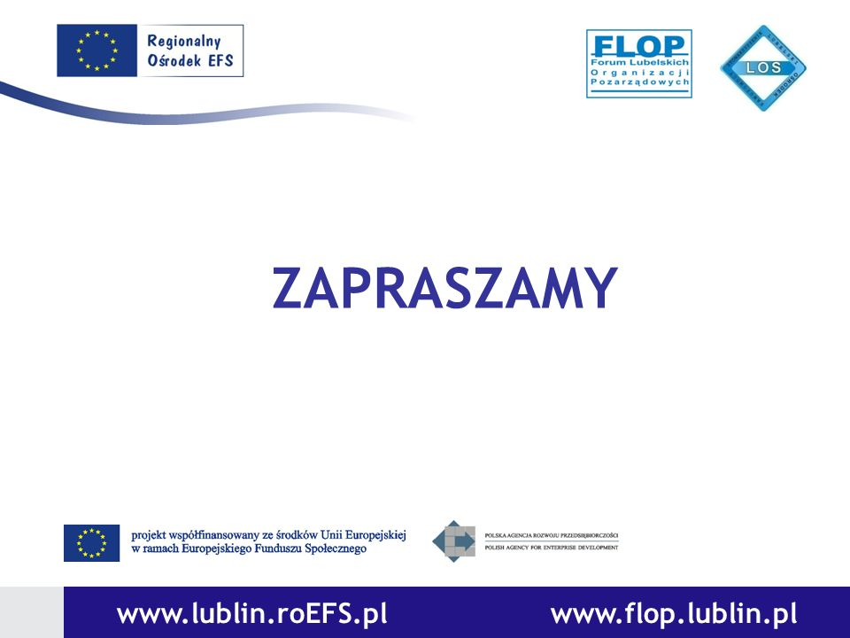 ZAPRASZAMY www.lublin.roEFS.pl www.flop.lublin.pl