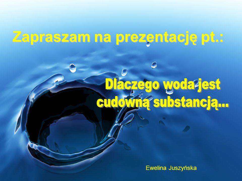 Woda, czyli tlenek wodoru to związek chemiczny o wzorze H2O, występujący w warunkach pokojowych w stanie ciekłym.