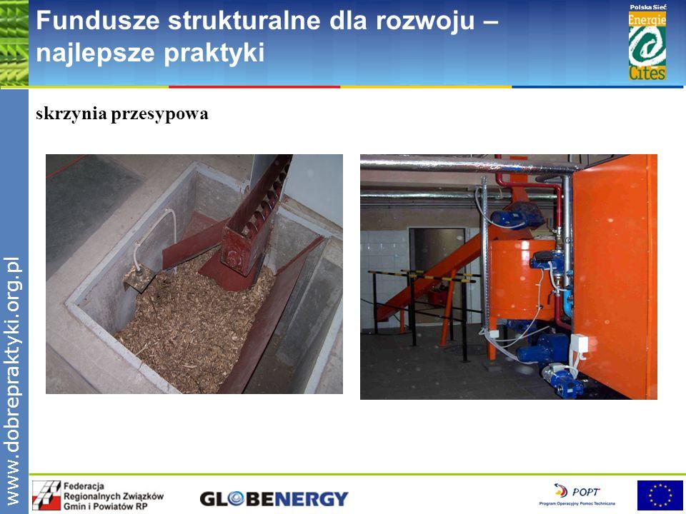 www.pnec.org.pl Polska Sieć www.dobrepraktyki.org.pl Fundusze strukturalne dla rozwoju – najlepsze praktyki skrzynia przesypowa