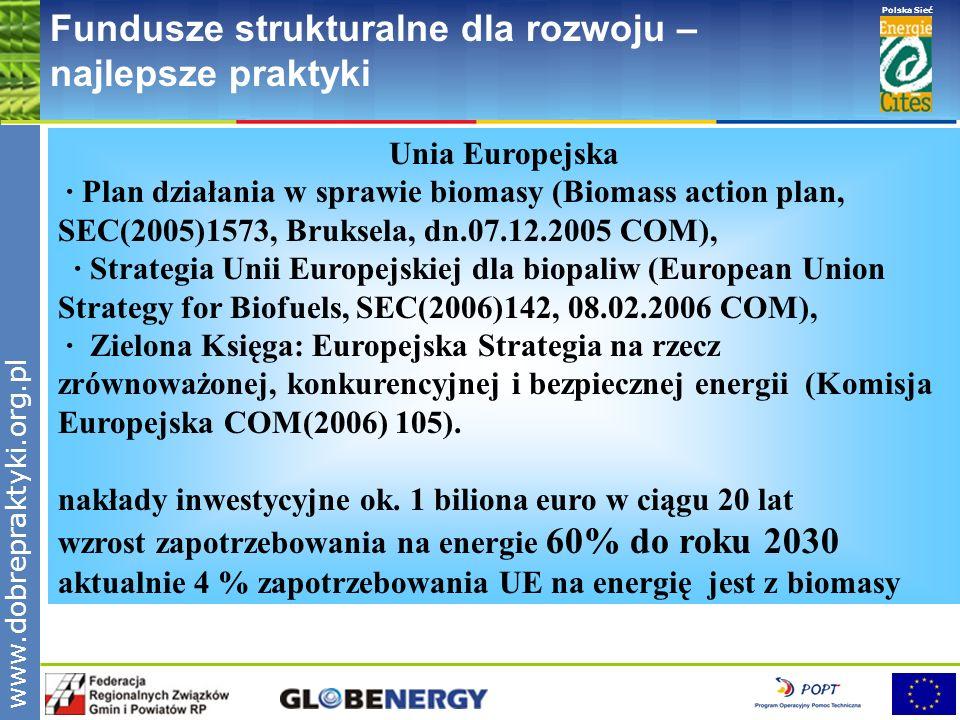 www.pnec.org.pl Polska Sieć www.dobrepraktyki.org.pl Fundusze strukturalne dla rozwoju – najlepsze praktyki Unia Europejska · Plan działania w sprawie