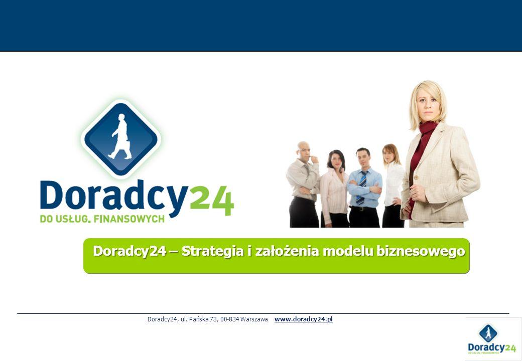 Doradcy24 – Strategia i założenia modelu biznesowego Doradcy24, ul. Pańska 73, 00-834 Warszawa www.doradcy24.pl