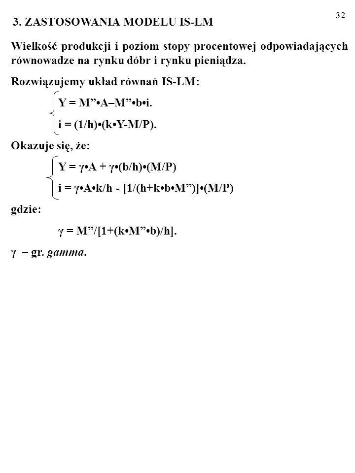 31 ZADANIE Dla punktów A, B, C, D odpowiedz na py- tania (wypełnij polecenie): a) Czy na ry- sunku obok w gospodarce panuje rów- nowaga? b) Jeśli nie,