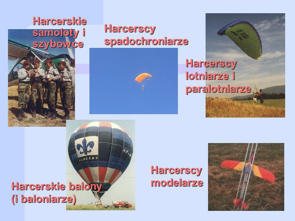 Harcerskie samoloty i szybowce Harcerscy spadochroniarze Harcerskie balony (i baloniarze) Harcerscy lotniarze i paralotniarze Harcerscymodelarze