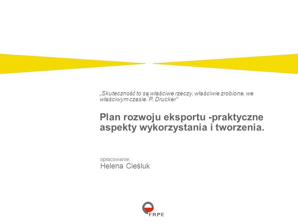 Page 2 Plan marketingowy jest dokumentem zawierającym plan wprowadzenia na rynek towarów i usług Plan rozwoju eksportu jest planem marketingowym wprowadzenia produktu/ów na wybrany rynek/i Wymagania co do zawartości planu są różne w zależności od firmy, jednak niezależnie od zakresu i zasięgu planu, czy stopnia jego szczegółowości Zastosowana procedura i struktura planu jest do siebie zbliżona.