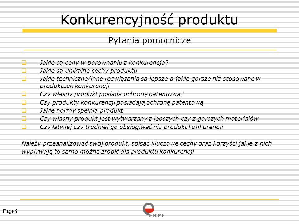 Page 20 Strategia produktu powinna opierać się na unikalnych cechach i mocnych stronach naszego produktu.