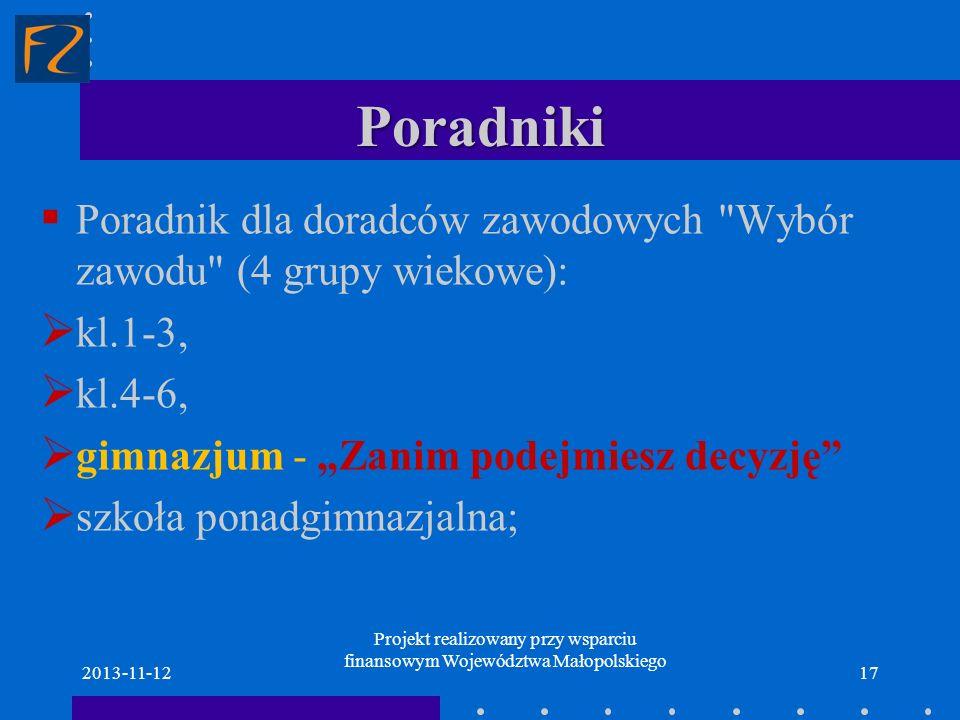 Poradniki Poradnik dla doradców zawodowych