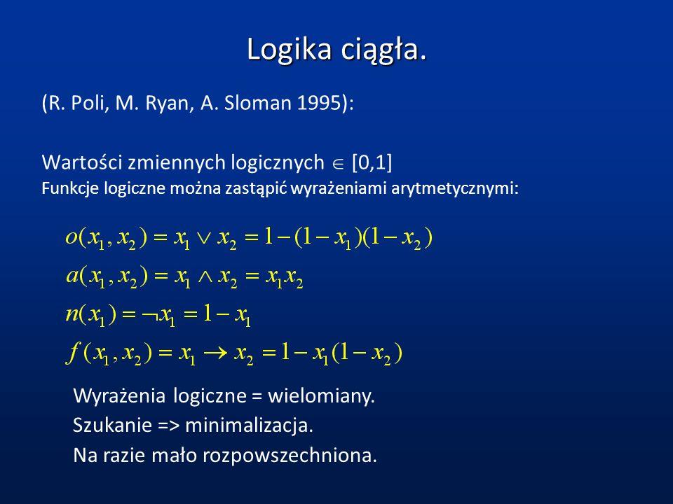 Teoria wiarygodności.(Dempster - Schaefer 1968): Wiarygodność [0,1] czyli ocena pewności wiedzy.
