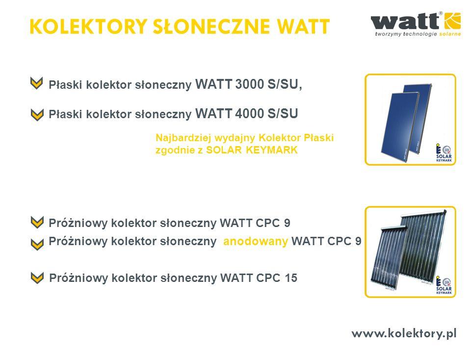 Płaski kolektor słoneczny WATT 4000 S/SU www.kolektory.pl KOLEKTORY SŁONECZNE WATT Płaski kolektor słoneczny WATT 3000 S/SU, Próżniowy kolektor słonec